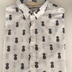 Cactus Man Pinapple button down linen shirt